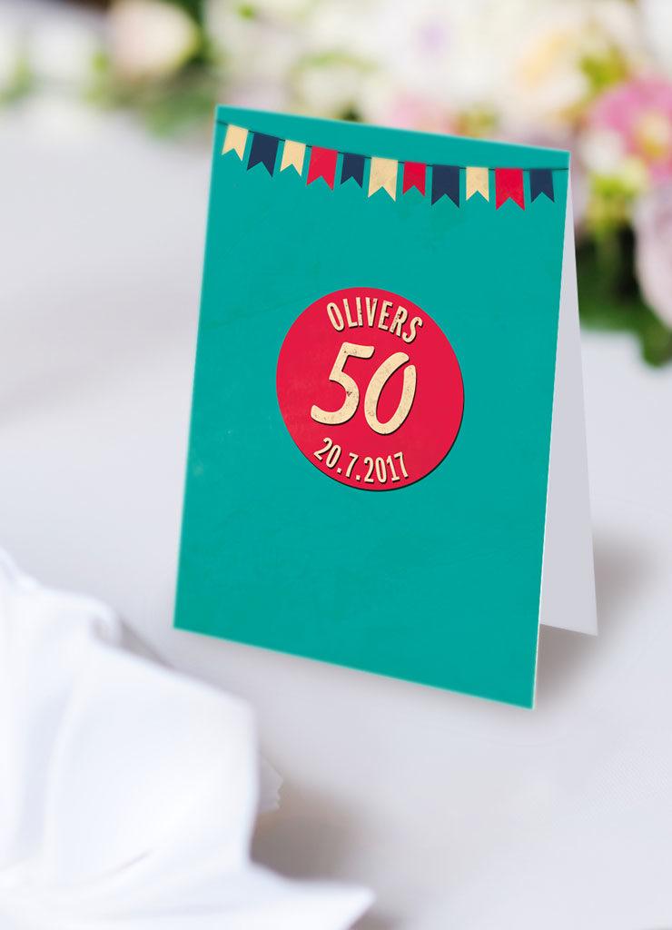 Karte zum 50. Geburtstag