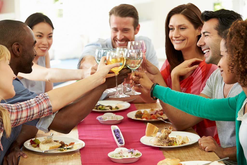 Teamveranstaltung mit leckerem Essen und viel Spaß