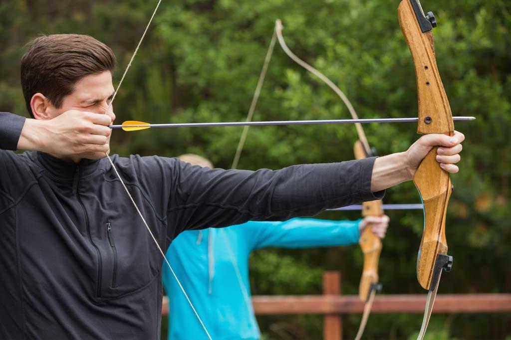 Teamevent mit Bogenschießen