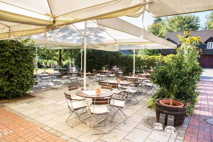Terrasse für Pausen zwischen den Meetings